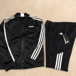 Adidas ladies jacket and leggings size S